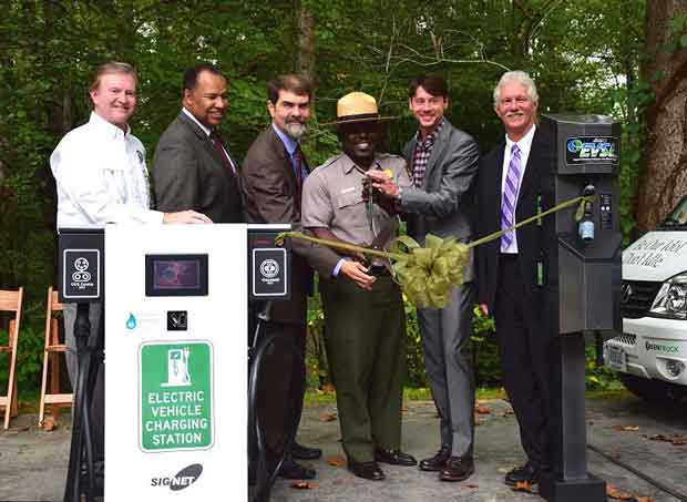 Great Smoky Mountains National Park Alternative Fuel Equipment Ribbon Cutting at Sugarlands Visitor Center