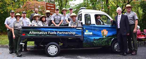 New Electric Vehicle for Great Smoky Mountains National Park Campground